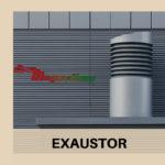 A instalação do exaustor