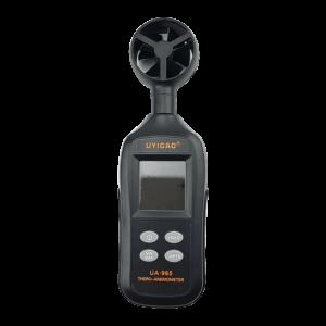 Medidor de velocidade e temperatura do ar
